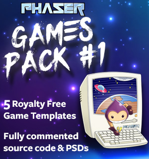Phaser Games Pack 1